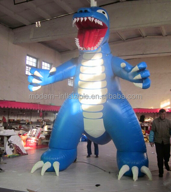 Giant Blue Standing Inflatable Dinosaurs