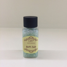 High quality hotel bathroom accessories, 50ml bath salt in PET bottle for hotel /spa