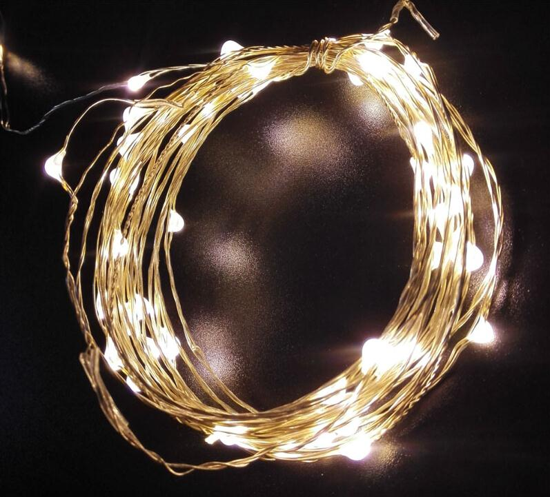 10m 100L DC12V cool white ultra thin mini rice silver wired led fairy string twinkle lighting lights