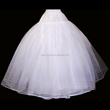 hot selling bulk wedding bridal underdress three hoops double layers decent gown dress puffy petticoats