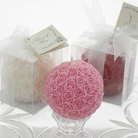 Malaysia Wedding Favors - Rose Ball Candle