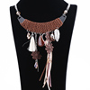 Fashion retro druzy quartz crystal pendant plated sliver chain necklace choker alloy necklace