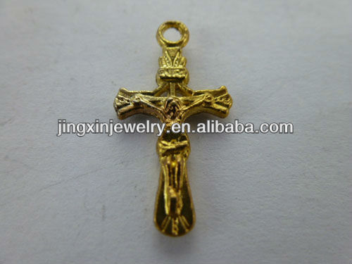 Wholesale Brass Crucifix Ornaments For Bracelet And Necklace Charms