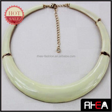 Enamel Craft 5 Parts Alloy Combination Necklace Elastic Choker Necklace