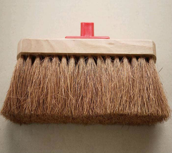 coconut fibre cleaning broom