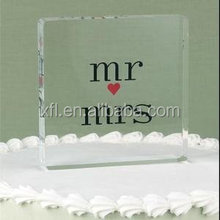 Wholesale high polished clear acrylic logo block factory