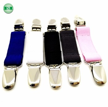 colorful elastic strap with stainless steel mitten clips