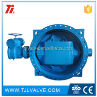double eccentric gear/electric marine double eccentricwafer type worm gear operated butterfly valve water use low price