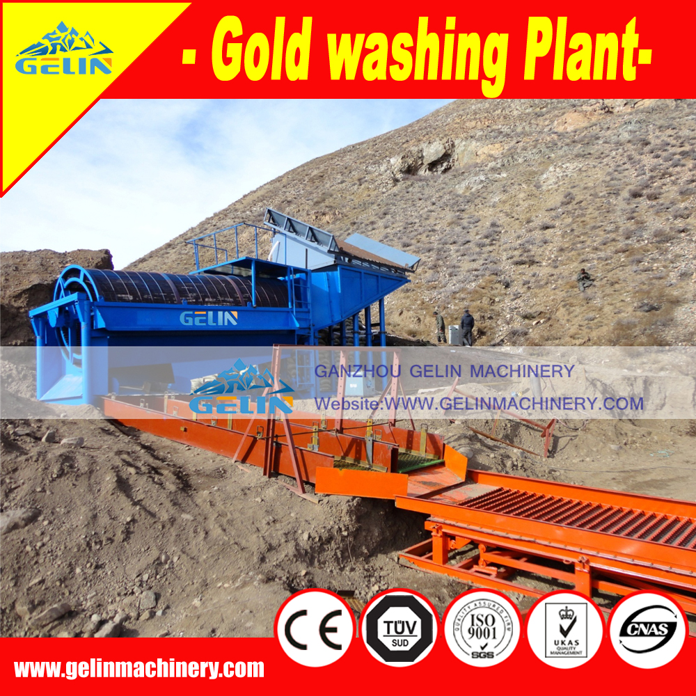 Gold shaking sluice box with grass mat for sale