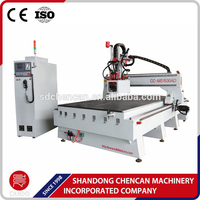 good price cnc router 3 axis 1224 with unloading system