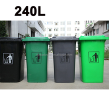 240L HDPE outdoor dustbin,garbage with wheel and cover