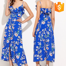 Unique Factory Direct Women's Woven Sleeveless Casual Beach Maxi Dresses 2017 New Guangdong Clothing