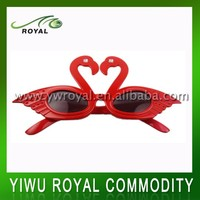 Funny Red Swan Shaped Eye Wear Party Glasses