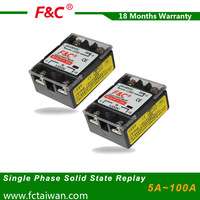 F&C5v 12v 24v single phase solid state relay