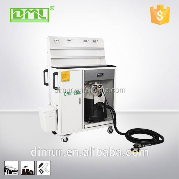 Industrial Mobile dry acrylic diamond edge polishing machine dust extraction system for cement plant/foundry
