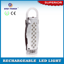 Low price 19+4led portable mini rechargeable led emergency lights with handle
