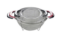 plastic handle stainless steel kitchen basket with 4 feet factory direct sales