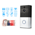 Full hd wifi h.264 battery operated wireless cctv camera door security peehole camera
