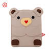 Cute bear dual-use felt computer bag laptop sleeve tablet cover case with accessory bag