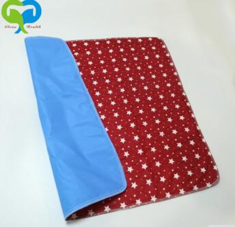 washable pet pee pad/dog urine underpad with waterproof PVC bottom