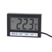 new LCD Digital Thermometer Temperature Meter Tester Celsius Temperature Diagnostic-tool Indoor Outdoor Clock with Probe ST-2
