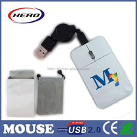 2015 Super slim pocket optical mini mouse for laptop and pc