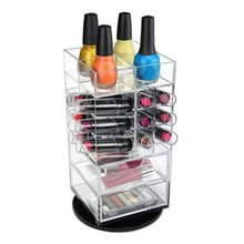 custom rotating acrylic lipstick display stand storage box holder