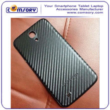 PU Leather Carbon Fiber Pattern Replacement Battery Cover Case for Samsung Galaxy S4 SIV i9500 Paypal acceptable