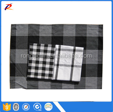 Big Size 100% Cotton Checks Big Tea Towels Kitchen Cleaning Cloth Kitchen Towels 75*50cm