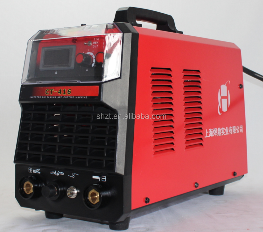 cheap inverter PLASMA CUTTER MMA DC TIG welder CT-416