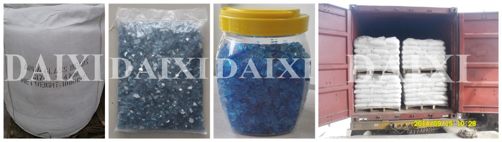 Decorative Swimming pool iridescent glass beads