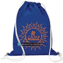 Custom logo 10oz organic cotton canvas tote drawstring bag