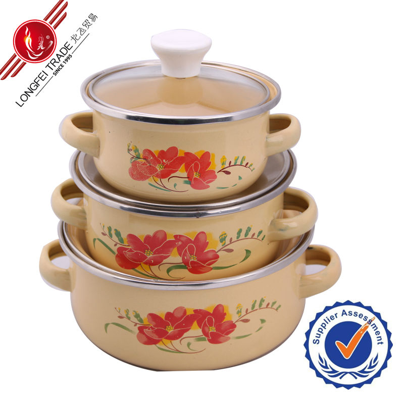 wholesale high quality enamel electric soup heating pot