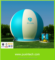 Portable Biogas Digester with ballon for animal waste treatment