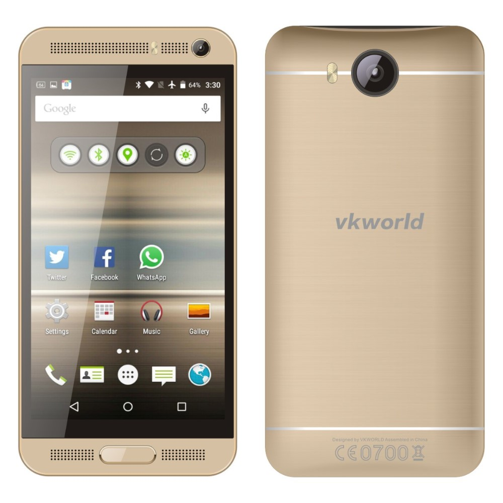 OEM Mobile Phone VKWORLD VK800X 5 inch Quad Core RAM 1G ROM 8G 5MP+8MP Camera Double Flash, Android 5.1 3G Smartphone