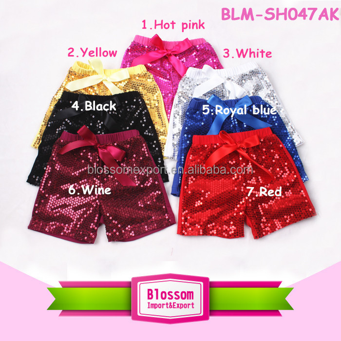 2016 Summer wear sequin shorts for baby kids, black new fashion boutique toddler sequin shorts