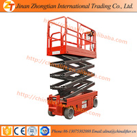 on promotion hydraulic lifting trolley self propelled scissor lift electric ladders