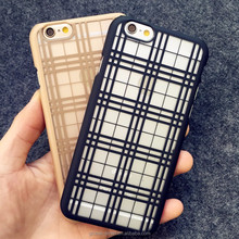 Amazon hottest selling new design checkered pattern stripes PC material premium cheap price case for iphone 6 back case