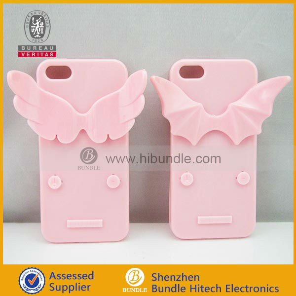 Couple case for iphone5,Angel and Demon for iphone 5 5g 5th