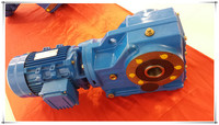 K series helical bevel foot mounted gear reduction gearboxes motor