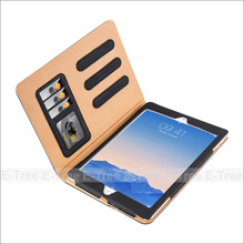For iPad Air 2 Leather Case With Card Slots
