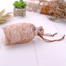 New arrival imitated jute lace bag favor bag