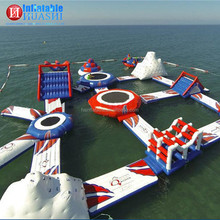 Excellent quality low price inflatable water floating playground / inflatable water floating park