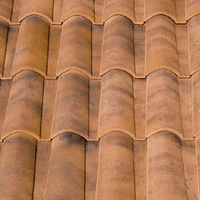 "Spanish, ""Ordesa"", ""Mixed"", roman ceramic roof tile, made of clay"
