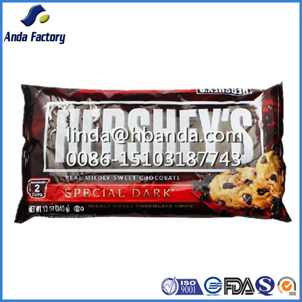 food grade chocolate bar packaging bags /printed wrapper for candy bar plastic film