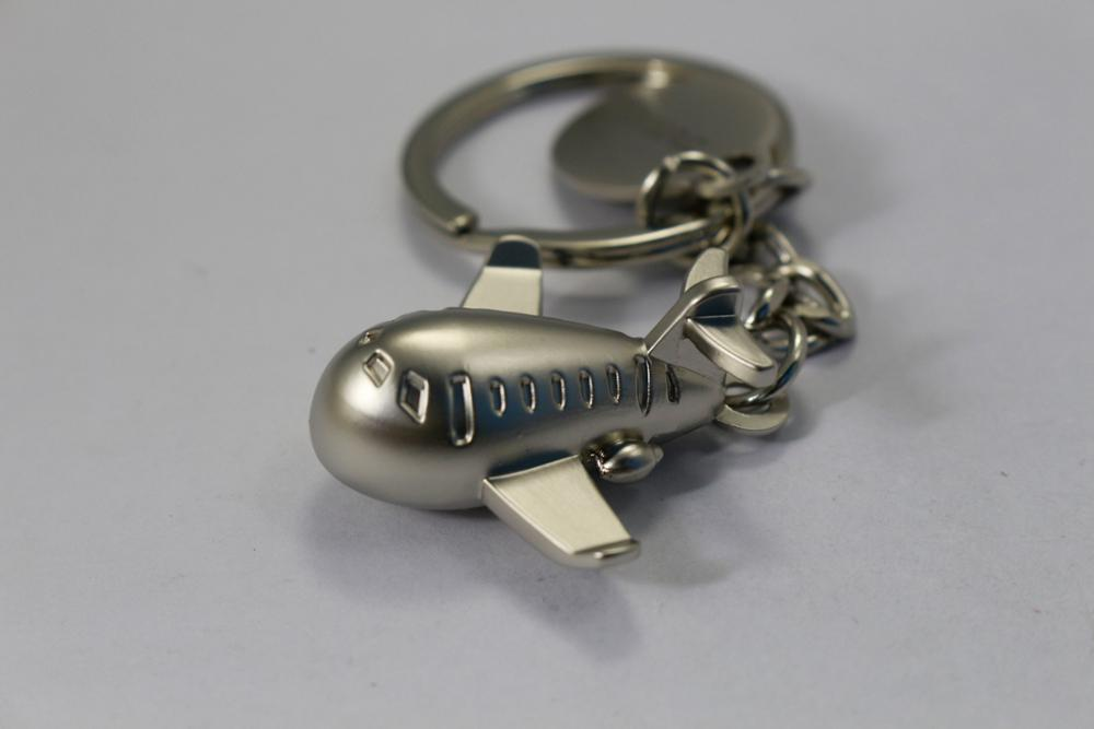 3D cool airplane model metal key chain keyring for boy gift