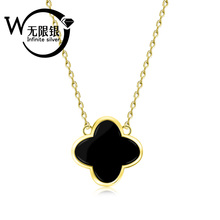 925sterling silver Popular flower Necklace With Plated jewelry LQN1246