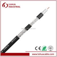 Quad shield RG6 coaxial cable
