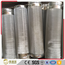Metal 304 316 customized perforated stainless steel screen filter cylinder / tube