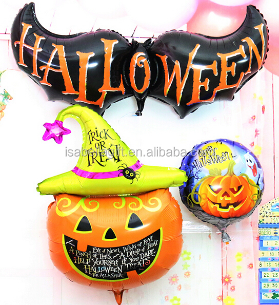 105 x 65cm pumpkin halloween costoms foil balloons wholesale with china wholesale balloons